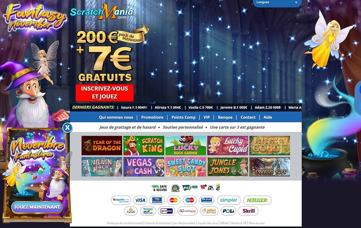 scratch mania casino avis