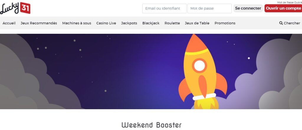 week-end booster lucky31
