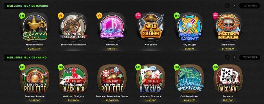 casino 888 jeux