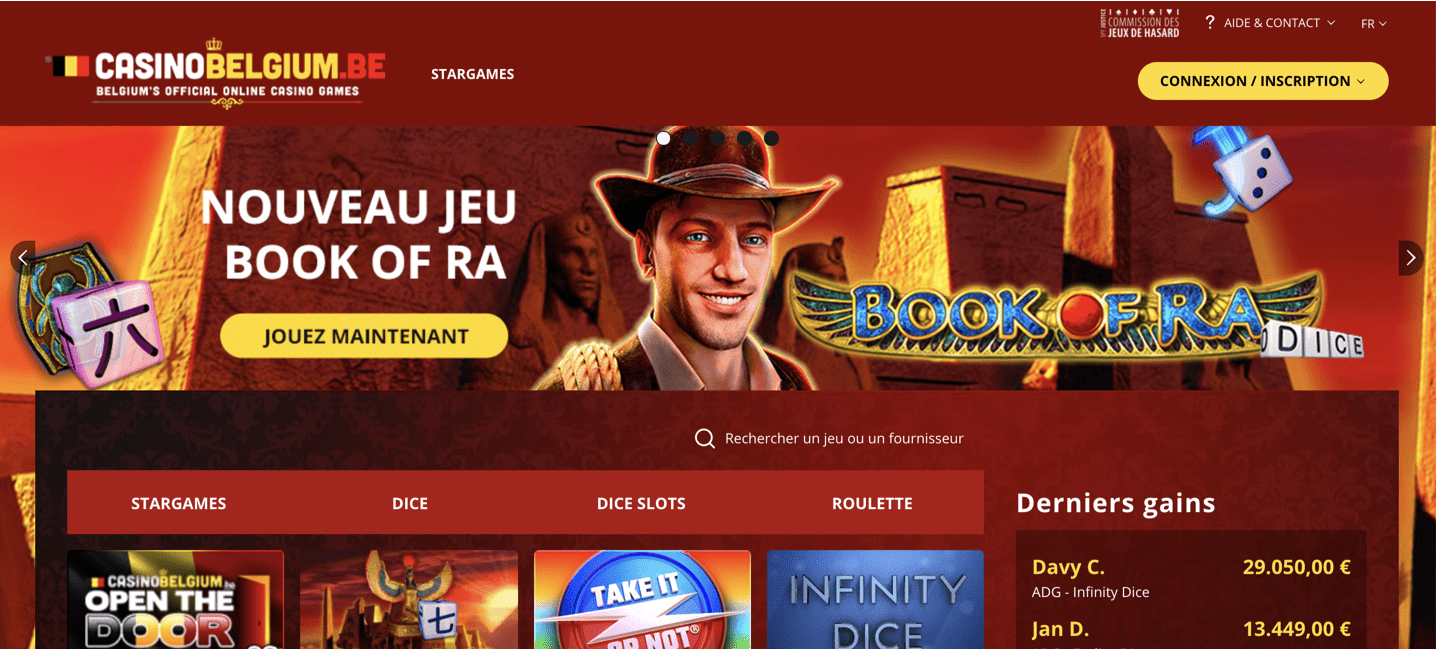 interface casino belgium